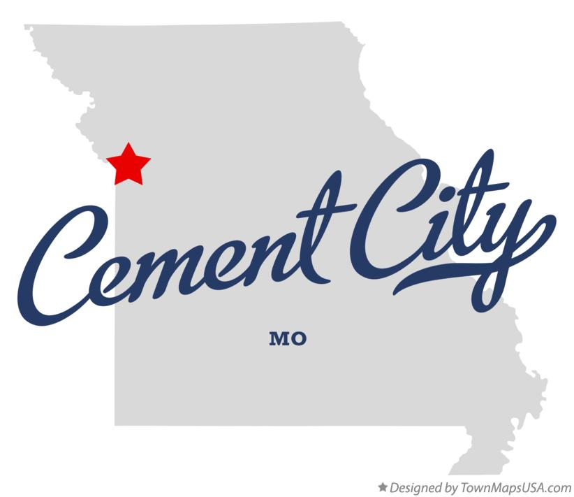 Map of Cement City Missouri MO