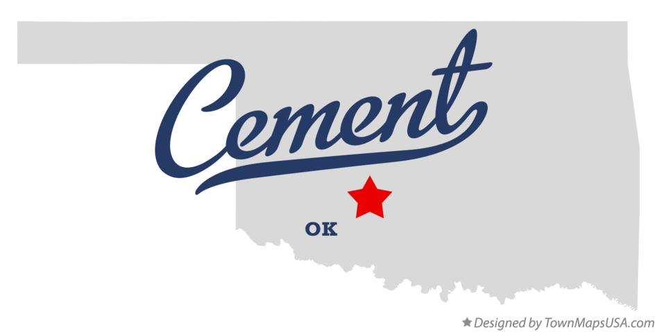 Map of Cement Oklahoma OK