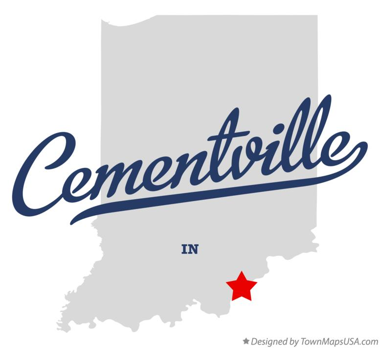 Map of Cementville Indiana IN