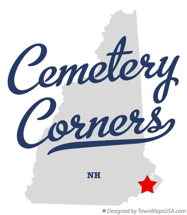 Map of Cemetery Corners New Hampshire NH