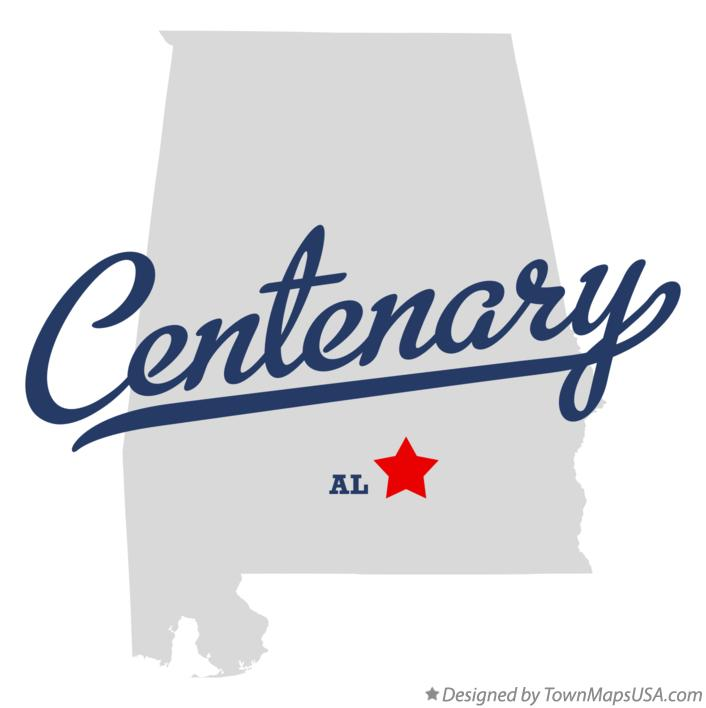 Map of Centenary Alabama AL