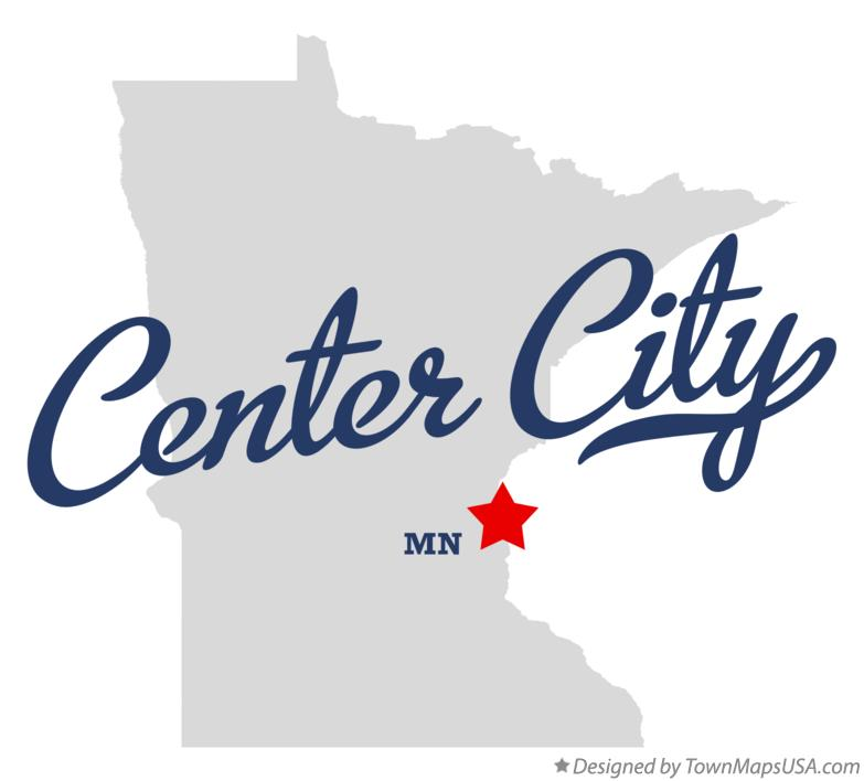 Map of Center City Minnesota MN