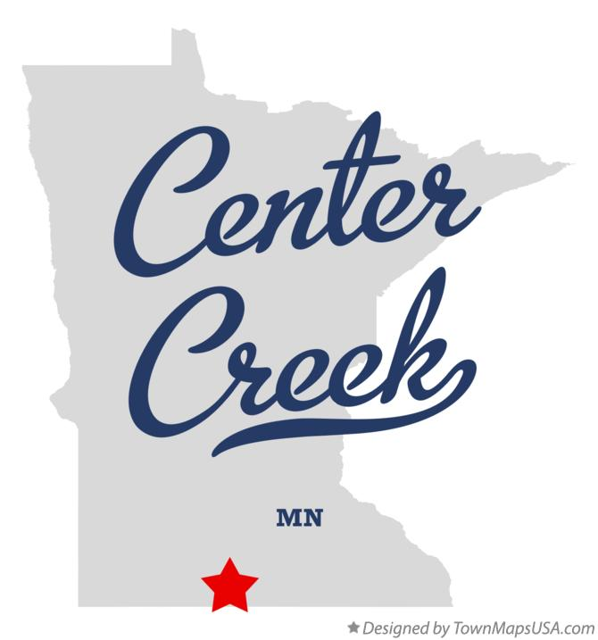 Map of Center Creek Minnesota MN