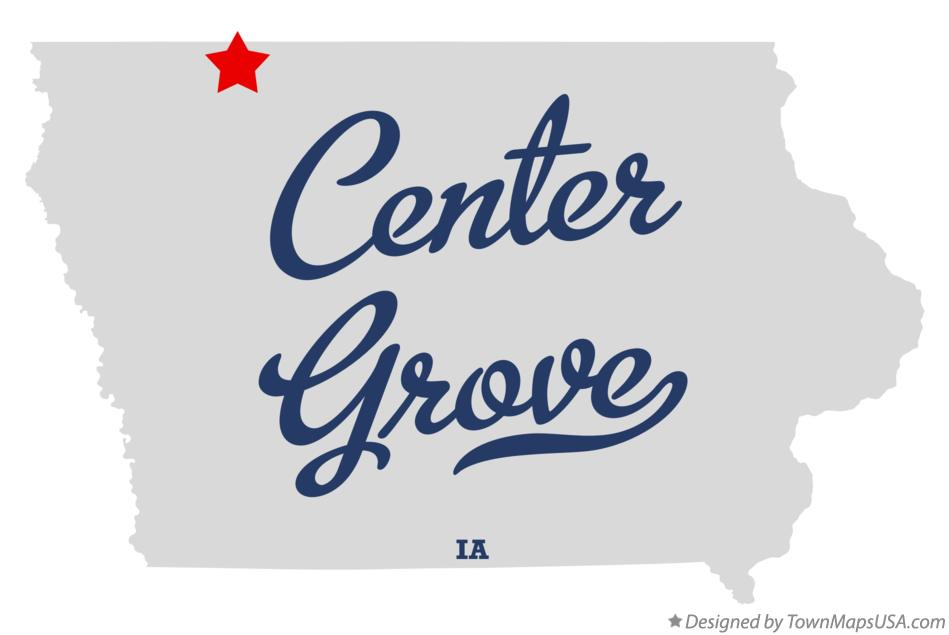 Map of Center Grove Iowa IA