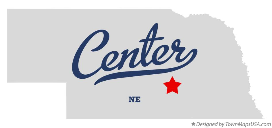 Map of Center Nebraska NE