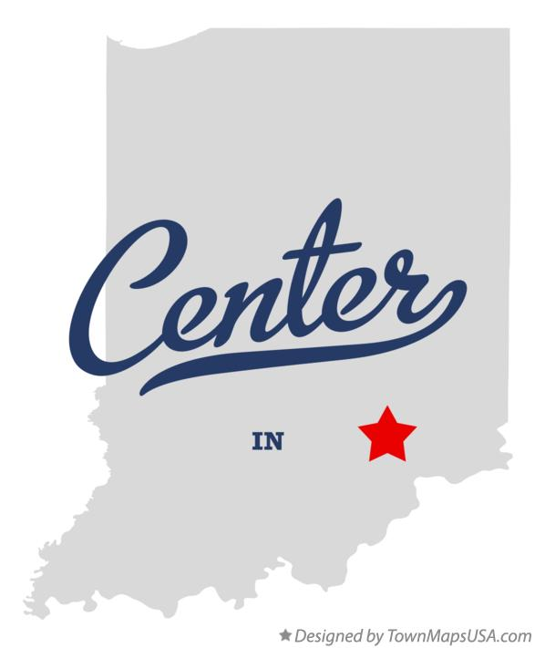 Map of Center Indiana IN