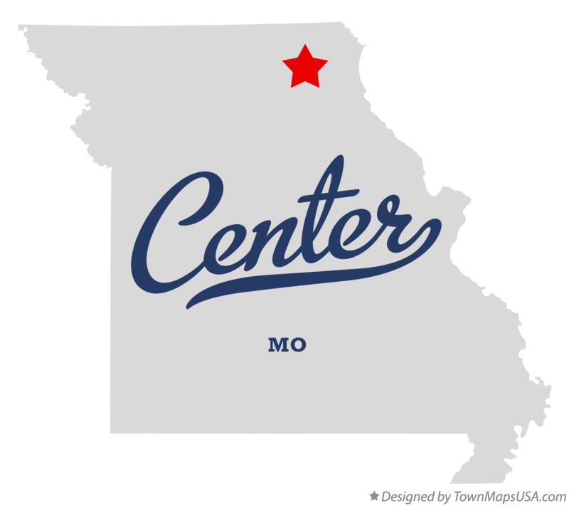 Map of Center Missouri MO