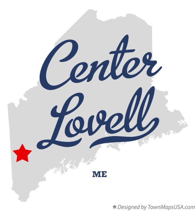 Map of Center Lovell Maine ME