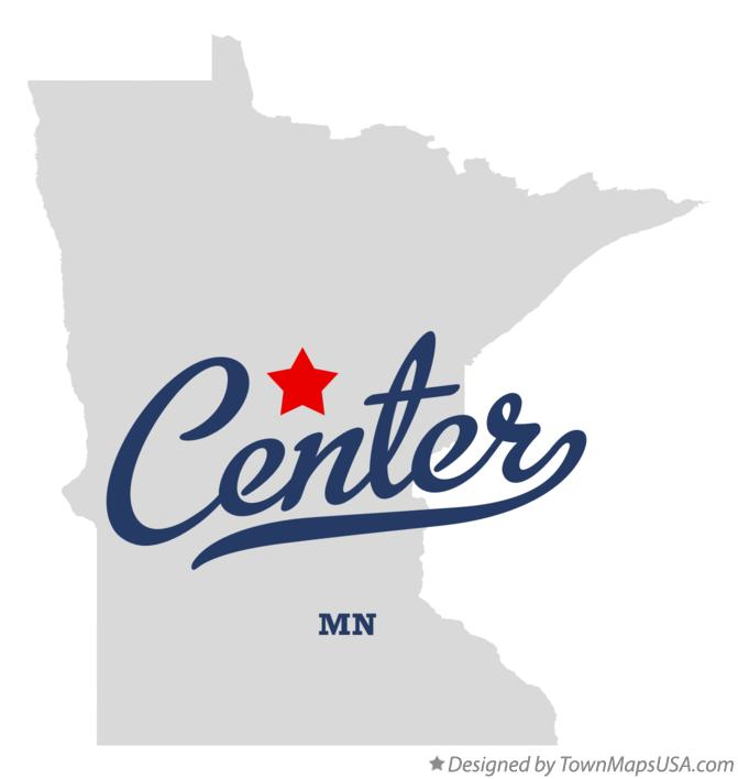 Map of Center Minnesota MN