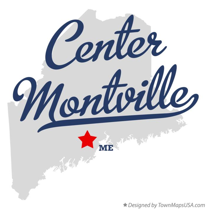 Map of Center Montville Maine ME
