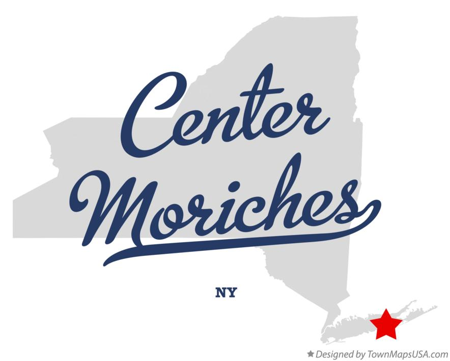 Map of Center Moriches New York NY