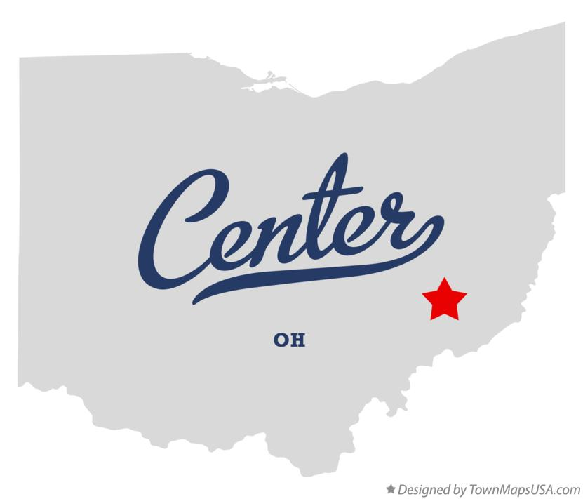 Map of Center Ohio OH