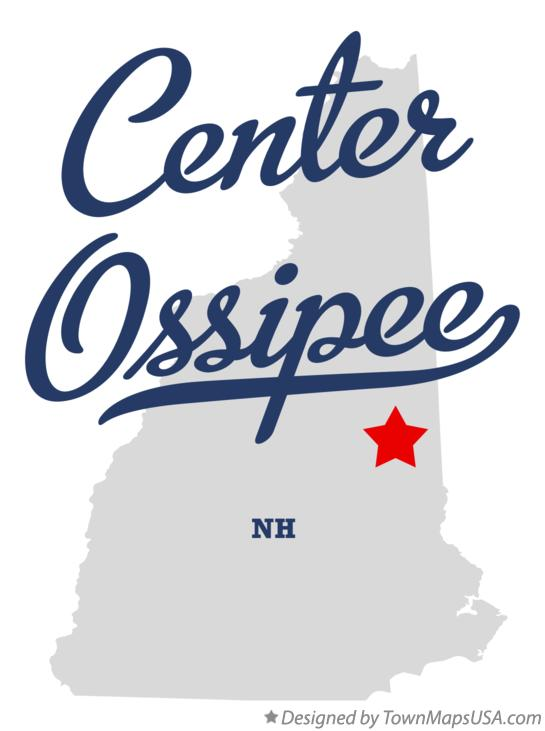 Map of Center Ossipee New Hampshire NH