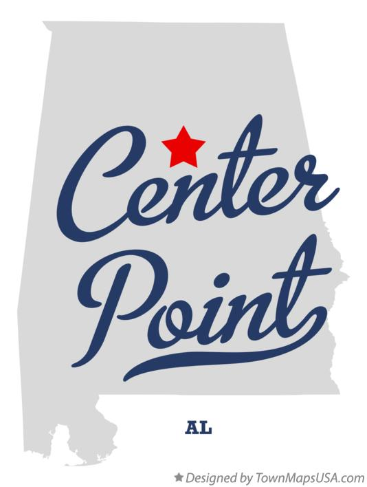 Map of Center Point Alabama AL