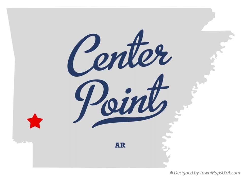Map of Center Point Arkansas AR