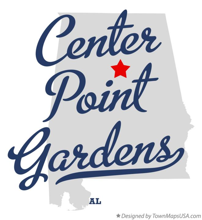 Map of Center Point Gardens Alabama AL