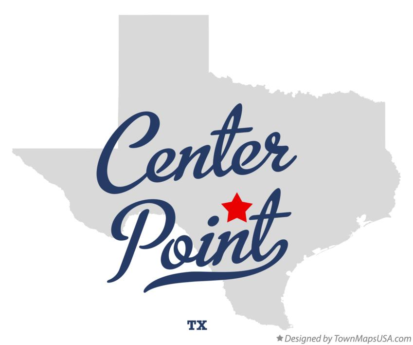 Map of Center Point Texas TX