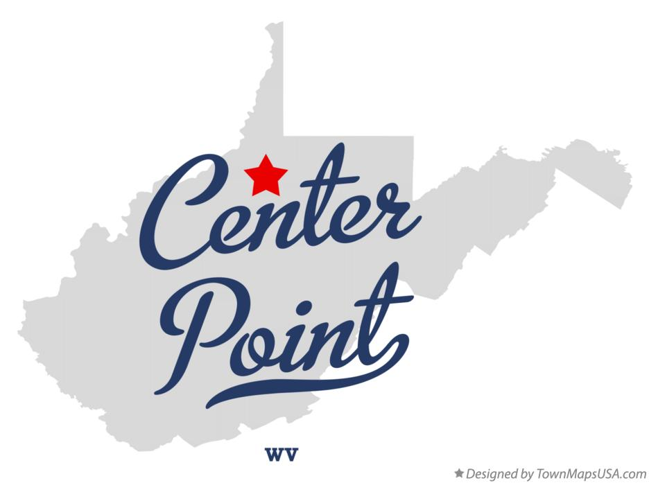 Map of Center Point West Virginia WV