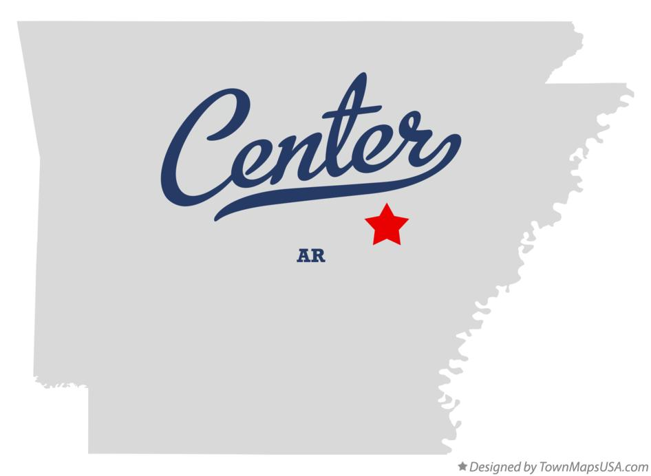Map of Center Arkansas AR