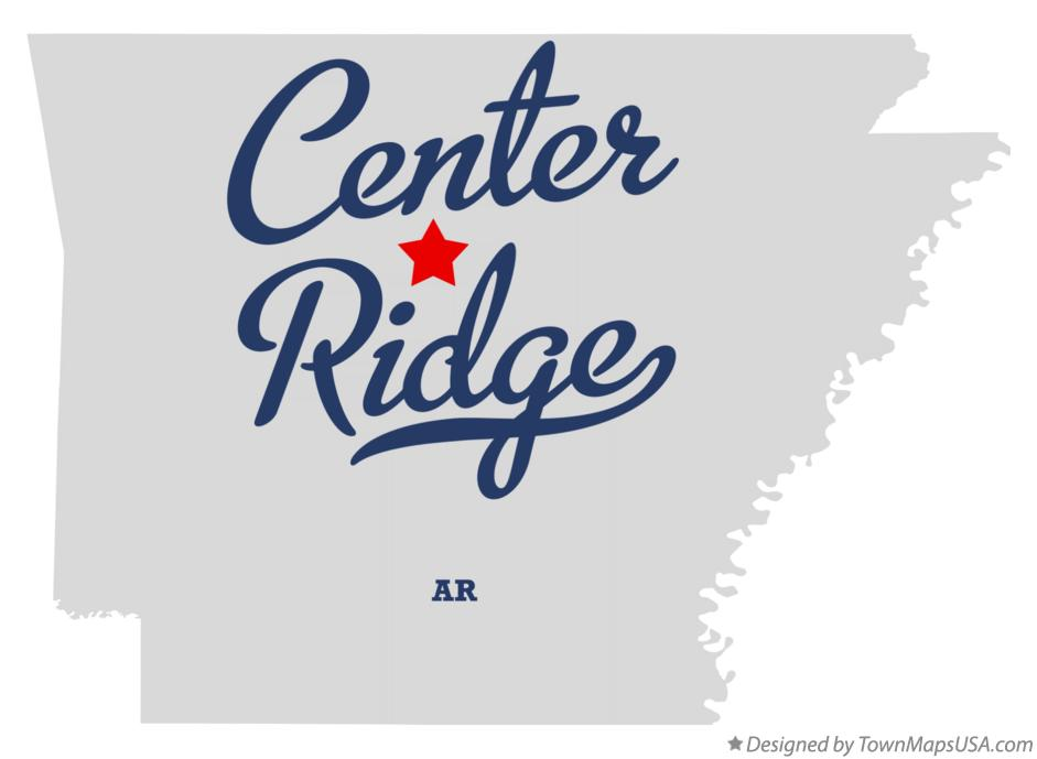 Map of Center Ridge Arkansas AR