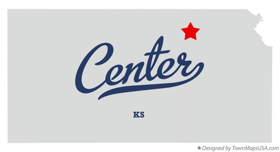 Map of Center Kansas KS