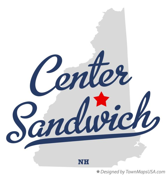 Map of Center Sandwich New Hampshire NH