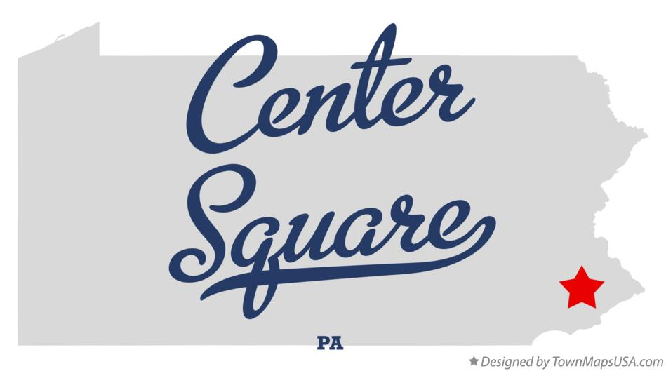 Map of Center Square Pennsylvania PA
