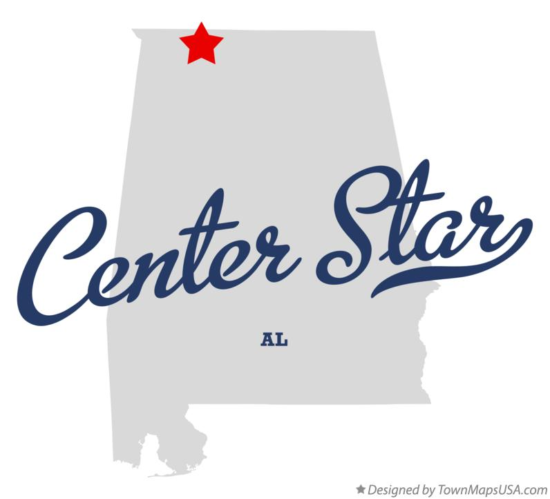 Map of Center Star Alabama AL