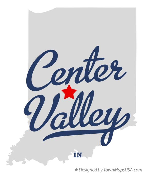 Map of Center Valley Indiana IN
