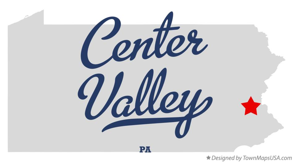 Map of Center Valley Pennsylvania PA