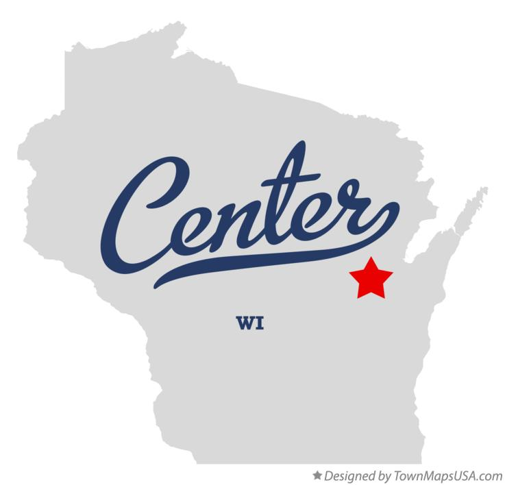 Map of Center Wisconsin WI