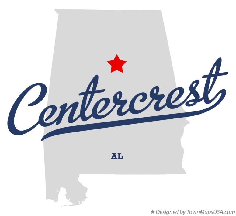 Map of Centercrest Alabama AL