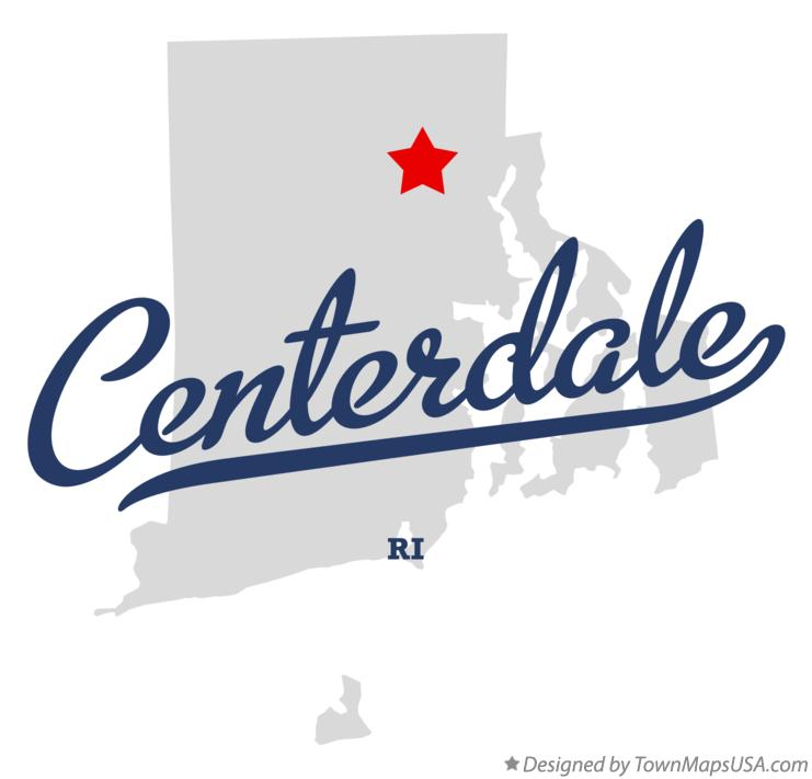 Map of Centerdale Rhode Island RI