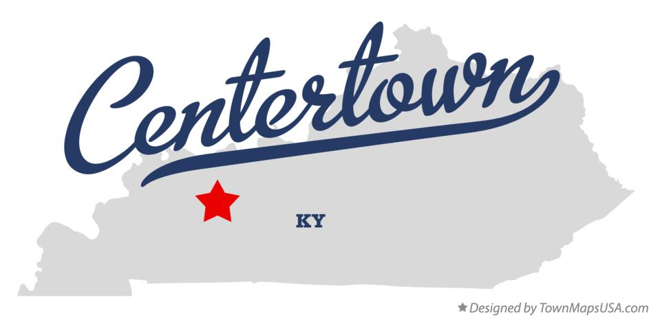 Map of Centertown Kentucky KY