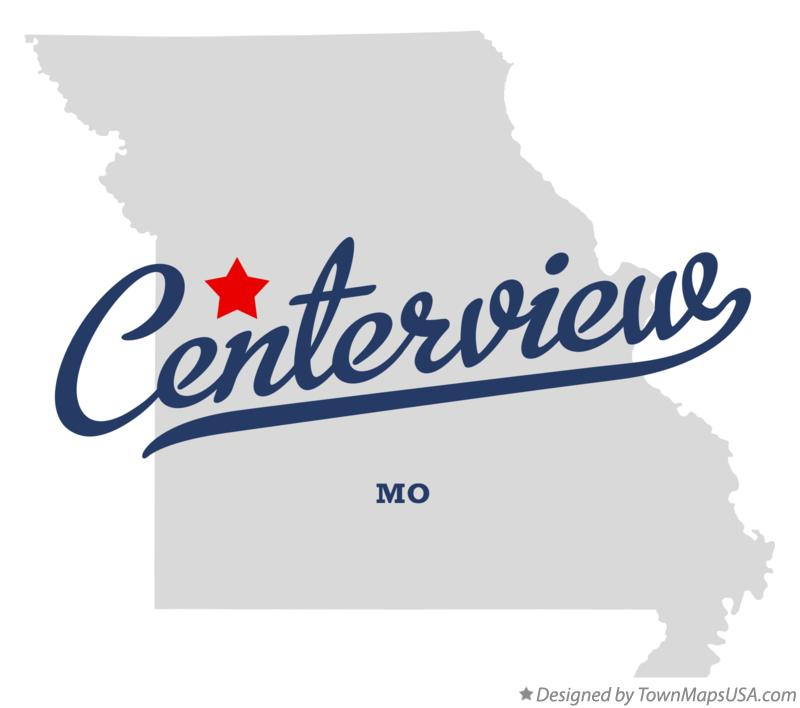 Map of Centerview Missouri MO