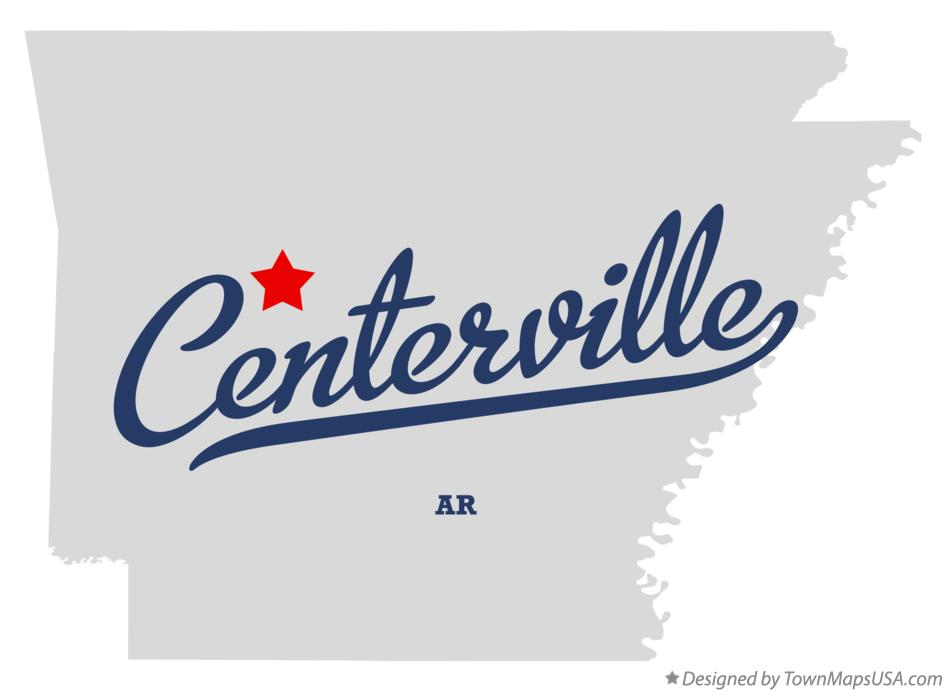 Map of Centerville Arkansas AR