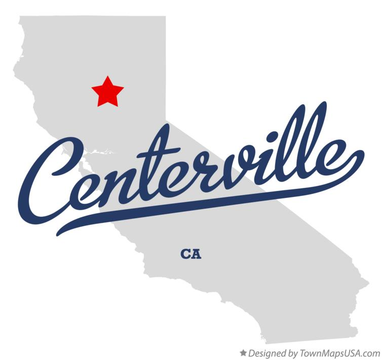 Map of Centerville California CA