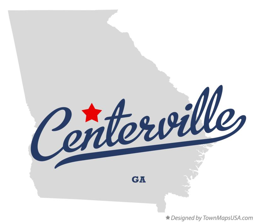 Map of Centerville Georgia GA