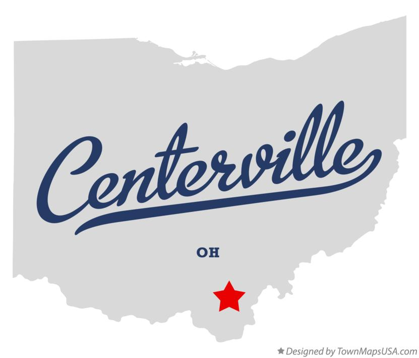 Map of Centerville Ohio OH