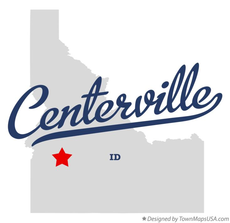 Map of Centerville Idaho ID