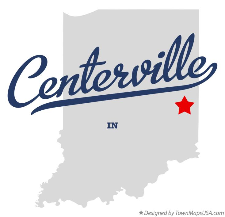 Map of Centerville Indiana IN