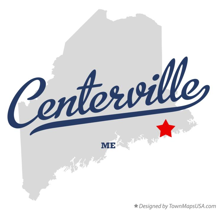 Map of Centerville Maine ME