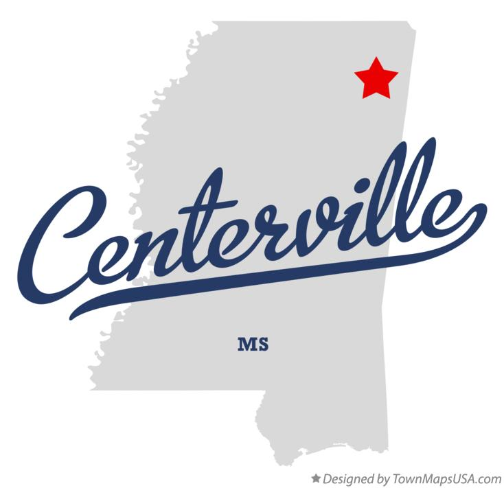 Map of Centerville Mississippi MS