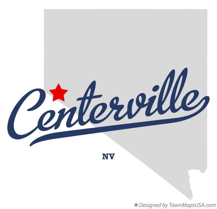 Map of Centerville Nevada NV