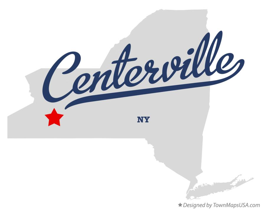 Map of Centerville New York NY