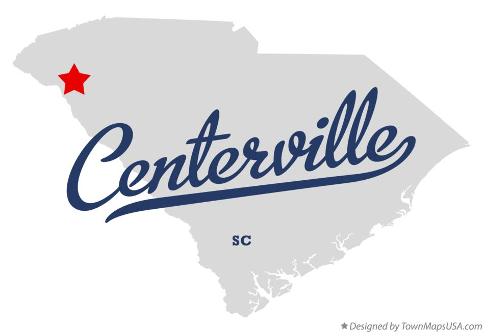 Map of Centerville South Carolina SC
