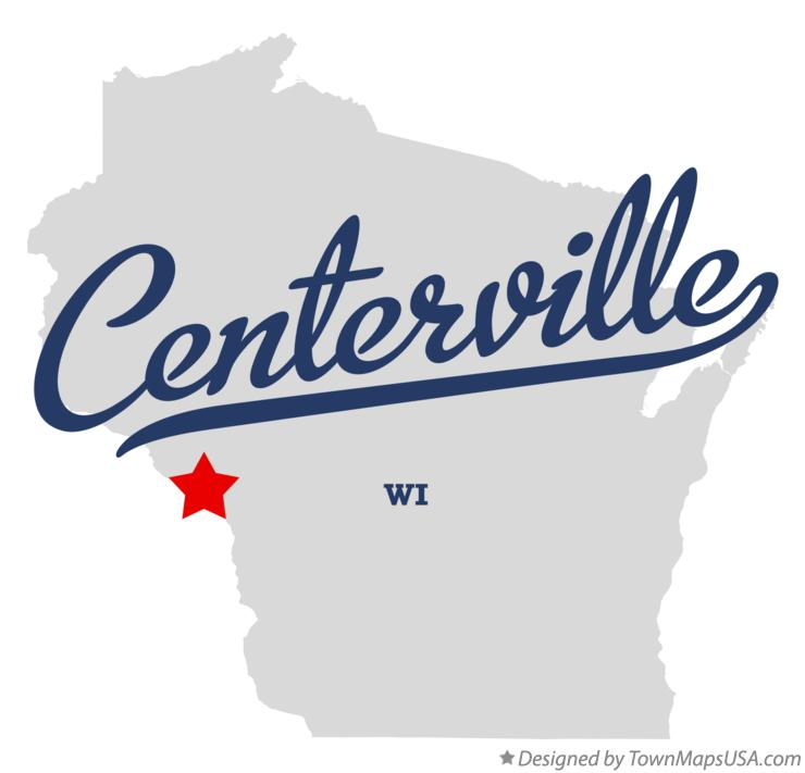 Map of Centerville Wisconsin WI