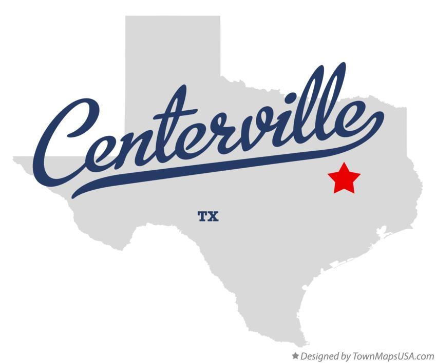 Map Of Centerville Leon County Tx Texas