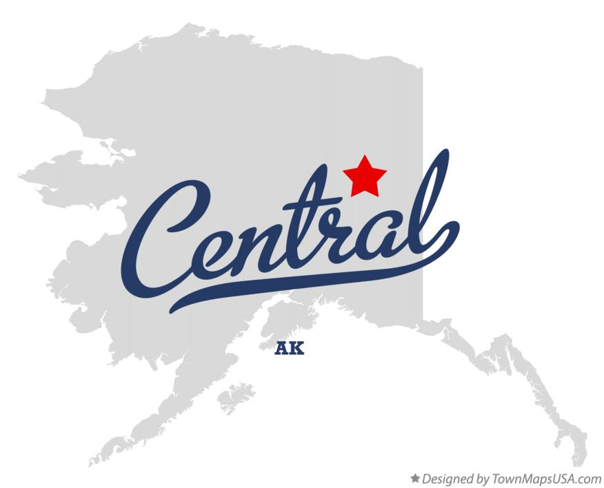Map of Central Alaska AK