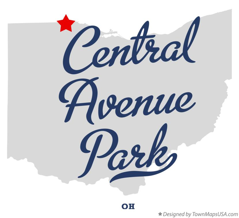 Map of Central Avenue Park Ohio OH